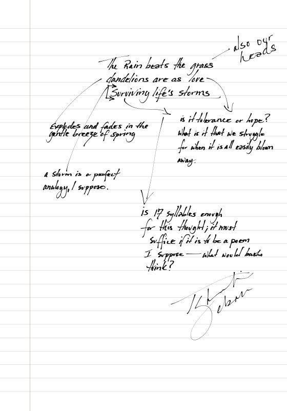 Haiku Notebook Page 87
