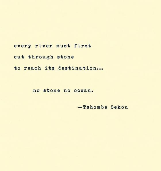 no stone no ocean